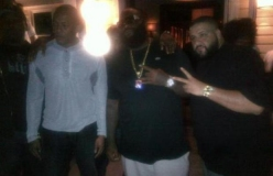 Rick Ross And Dj Khaled In The Studio With Dr. Dre