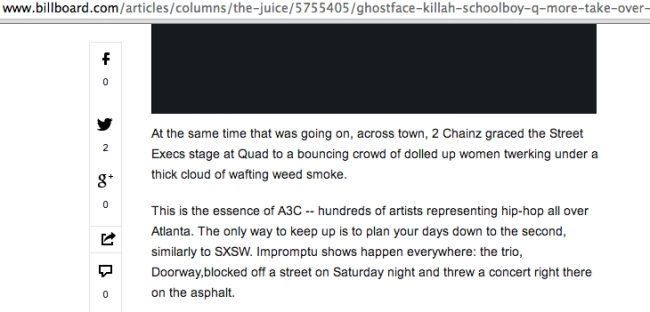 Billboard.com Mentions Doorway Amongst Ghostface